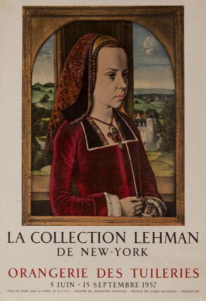 Le Collection Lehman de New York, Orangerie des Tuileries, Original French Travel Poster