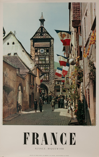 France, Alsace Riquewihr, Original French Travel Poster