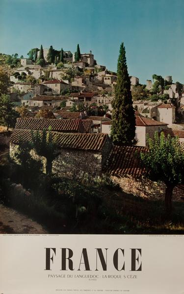 France, Paysage du Languedoc : La Roques s CezeOriginal French Travel Poster