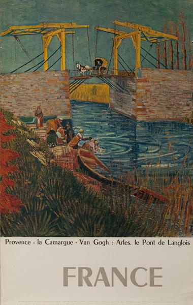France, Provence la Camargue - Van Gogh, Arles le Pont de Langlois, Original French Travel Poster