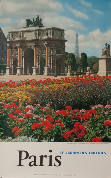 Paris, Le Jardin Des Tuileries, France, Original French Travel Poster