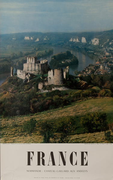 France, Normandie Chateau  Gaillard Aux Andelys, Original French Travel Poster