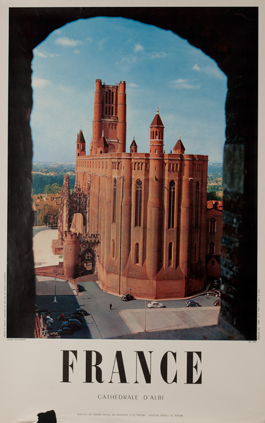 France, Cathedrale d'Albi, Original French Travel Poster