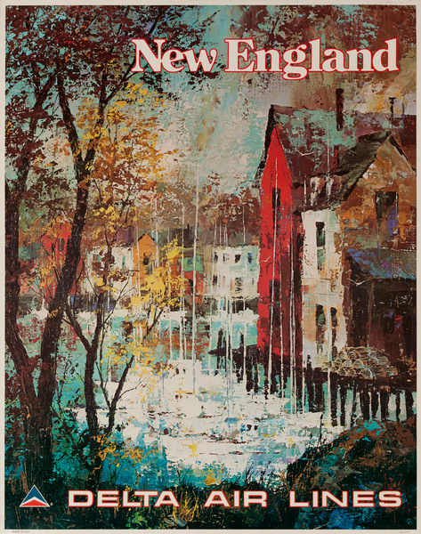 Delta Airlines Travel Poster New England