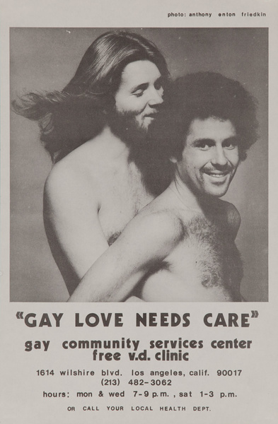Gay Love Needs Care, Original California Venereal Disease, VD Public Health Poster