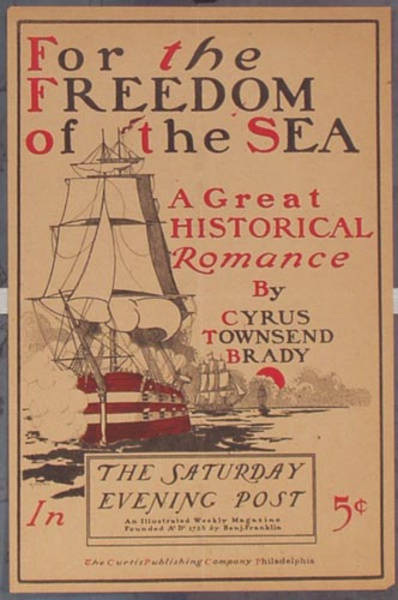 Saturday Evening Post Freedom of the Sea Original Vintage Magazine Poster