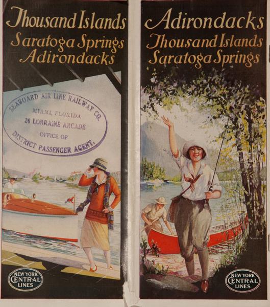 Thousand Islands Saratoga Springs Adirondacks Original New York Central Lines Travel Brochure
