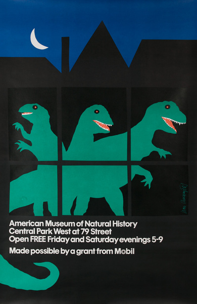 Dinosaur Exhibition at the American Museum of Natural History, New York City Original Poster