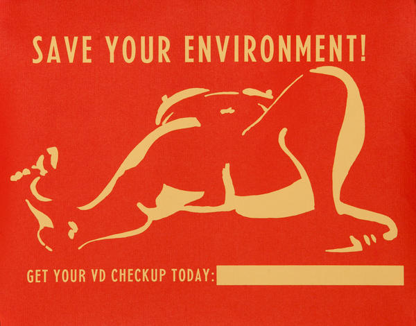 Save Your Environment, Get Your VD Checkup Today, Original American Public Health Poster