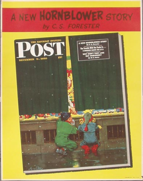Saturday Evening Post Dec 9, 1950  Original Vintage Magazine Poster