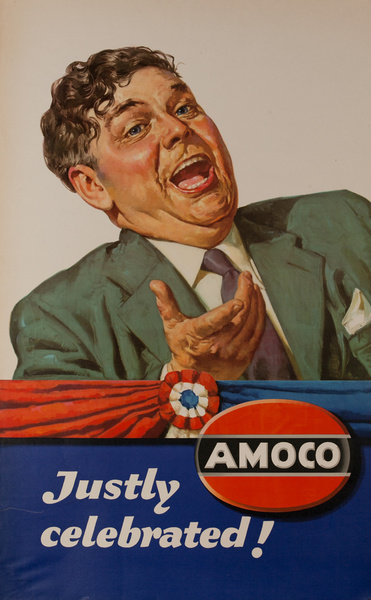 Justly Celebrated, Amoco, Original American Gas Station Poster