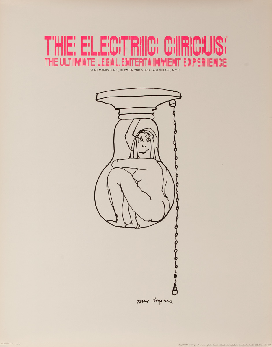 The Electric Circus - The Ultimate Legal Entertainment Experience, Original Poster (lightbulb)