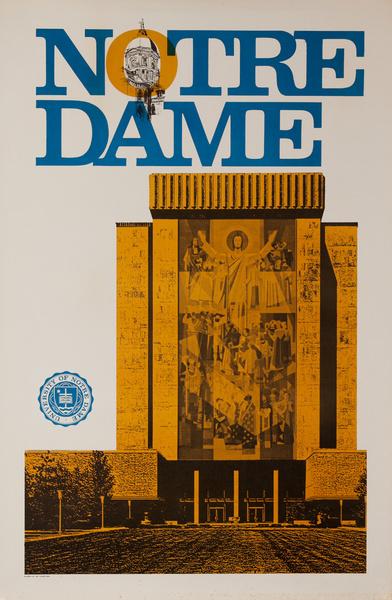 Notre Dame Original College Poster