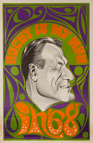 Rocky is My Man, Original 1960s Political Satire Poster