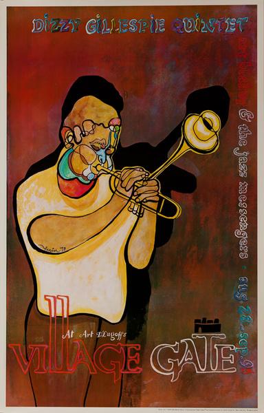 Dizzy Gillespie Quintet Jazz at Village Gate, Original New York Music Poster