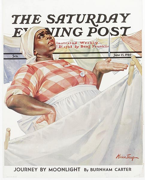 Saturday Evening Post Original Advertising Poster June 15, 1940 mammy