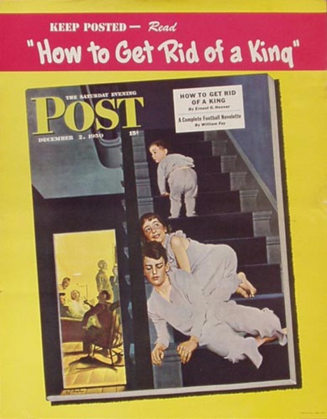 Saturday Evening Post Dec 2, 1950 Original Vintage Magazine Poster