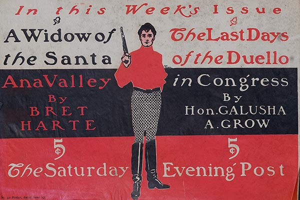 Saturday Evening Post A Widow in the Santa Ana Valley Original American Literary Poster