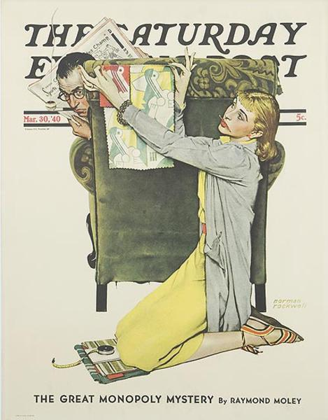 Saturday Evening Post March 30, 1940 Original Advertising Poster The Designer