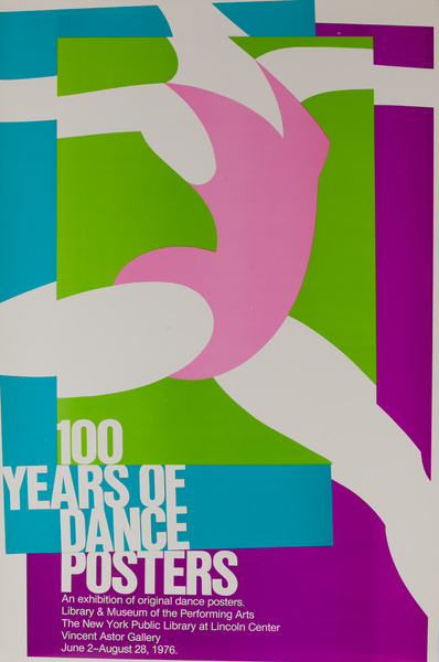 100 Years of Dance Posters held at the Museum of the Performing Arts in Lincoln Center. Original Poster