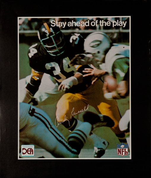 Andy Russell Pittsburgh Steelers, Original DEA Drug Enforcement Poster