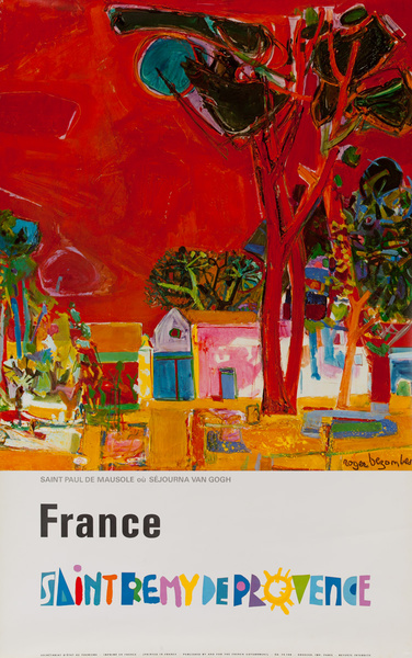 France Saint Remy Provence Original French Travel Poster