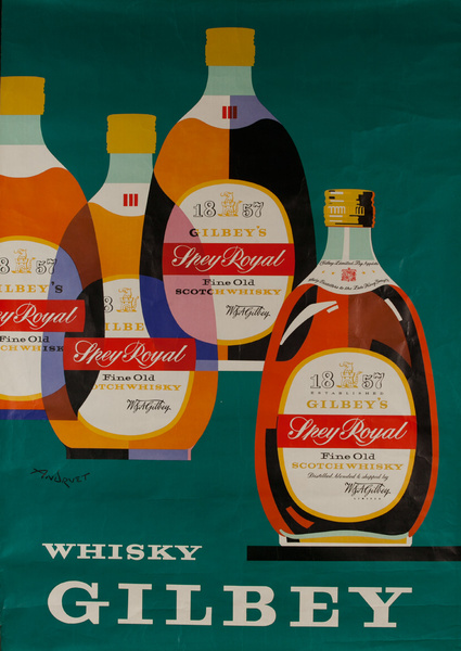 Gilbey Whisky, Original Advertising Poster