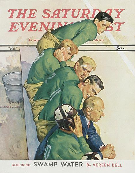 Saturday Evening Post Original Advertising Poster November 23, 1940 Football