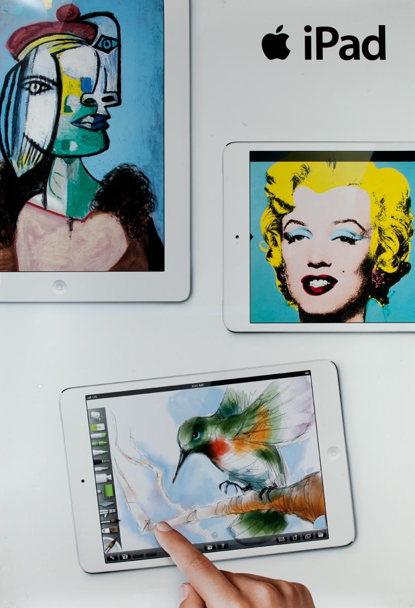 iPad Original Advertising Poster Warhol Marilyn