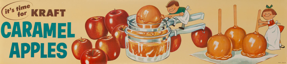 It's Time for Kraft Caramel Apples Original American Advertising Poster