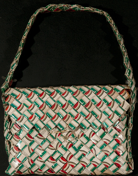 Folk Art Cigarette Wrapper Purse, Kool