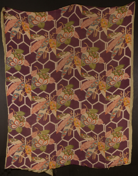 Japanese Silk AFloral Pattern Futon Cover