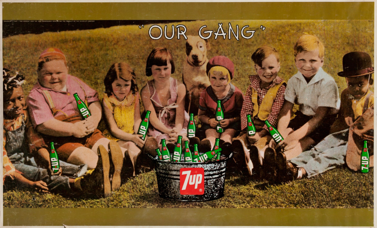 Our Gang, Original 7-Up Advertising Poster