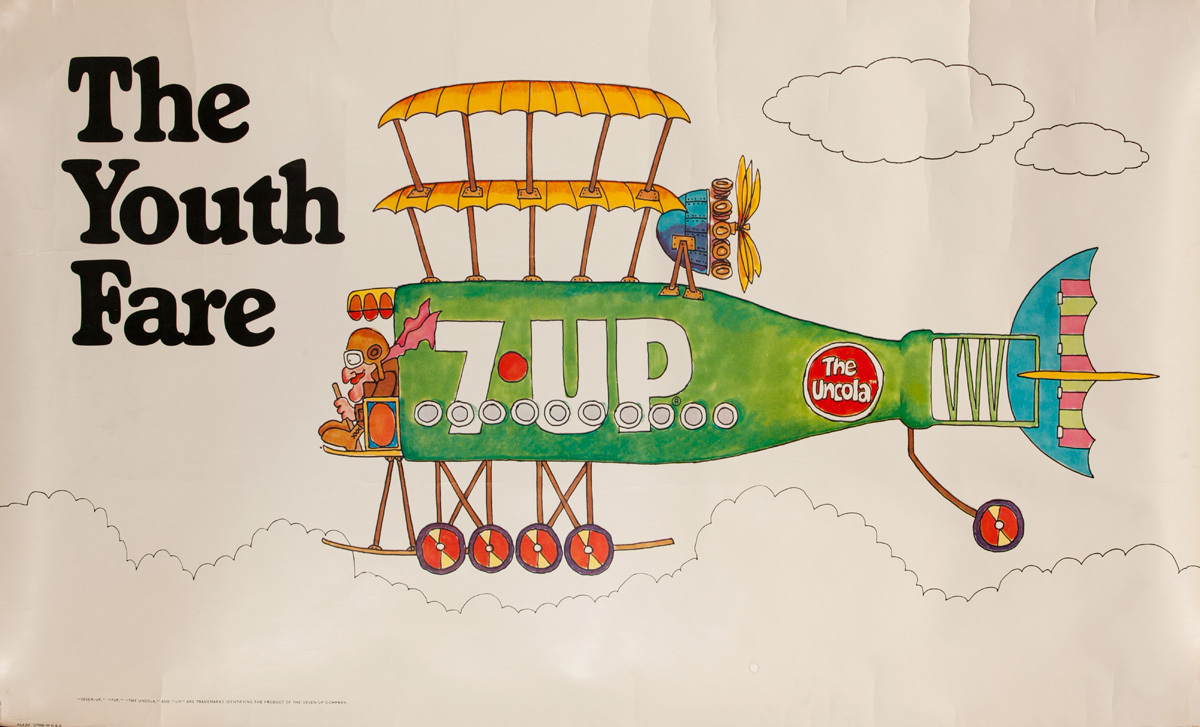 The Youth Fare, Original American 7-Up Advertising Poster
