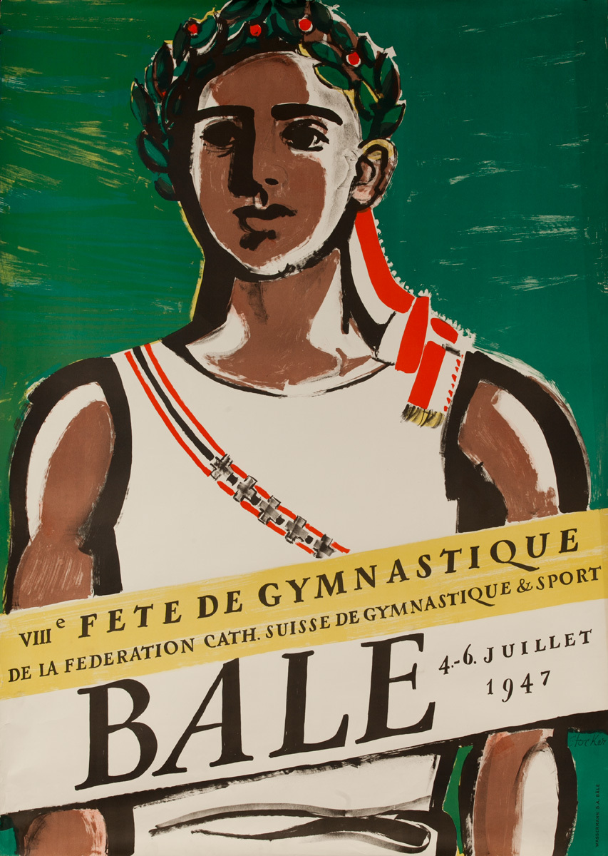 Original 7th Swiss Gymnastics Festival Poster - Federation Suisse de Gymnastique