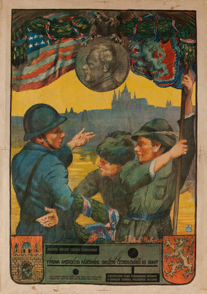 Original Czech Legion 10th Anniversary of Independence Poster