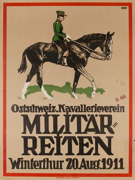 Militärreiten, Military Riding, Original pre-WWI German Poster