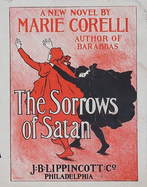 The Sorrows of Satan by Marie Corelli Original American Literary Poster