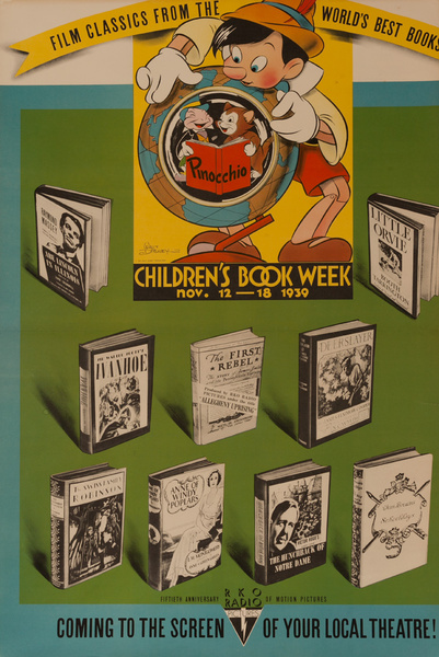 Original Children's Book Council Book Week 1939 Poster