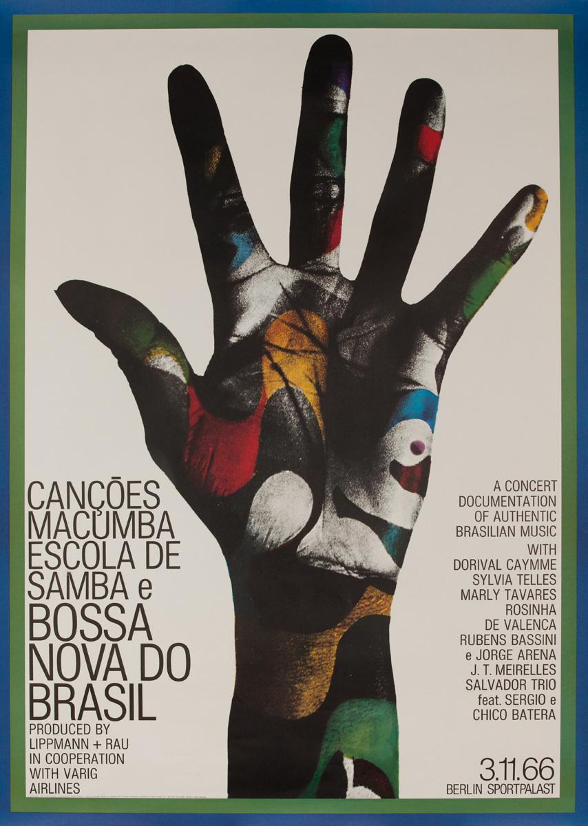 Bossa Nova do Brasil Original German Concert Poster