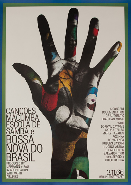 Bossa Nova do Brasil Original German Concert Poster