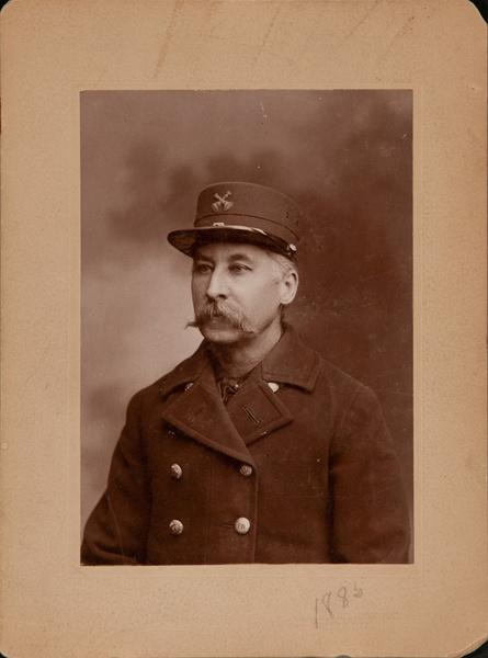Original Philadelphia Fireman Cabinet Card,  Blaul Gallery 1885