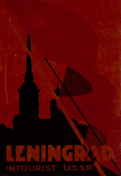Leningrad Intourist USSR Original Luggage Label Flag