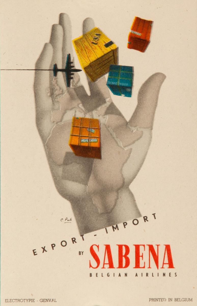 Sabena Original Luggage Label, Air Freight