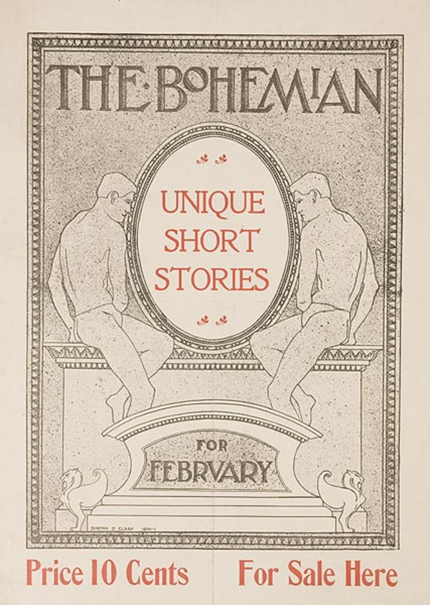 The Bohemian For February Original American Literary Poster