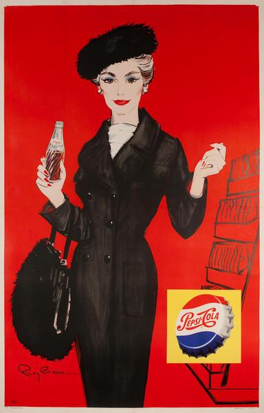 Pepsi Advertising Poster Chic Fur Hat
