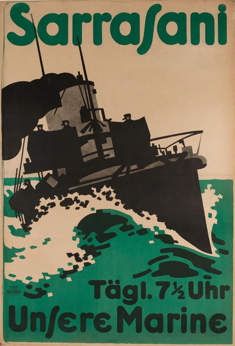 Sarrasani Unsere Marine, Our Navy Original German WWI Movie Poster