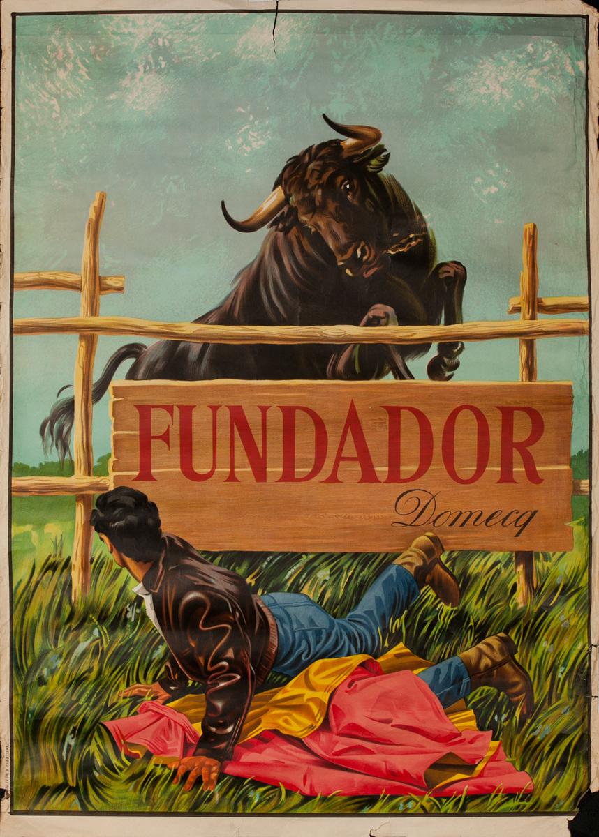 Fundador Domecq Original Spanish Travel Poster