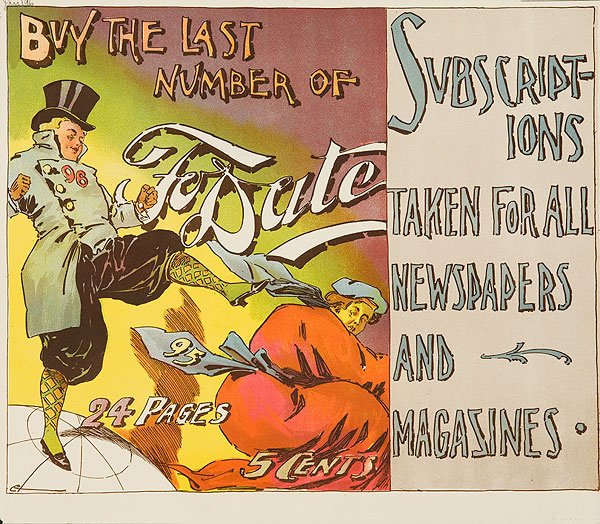 To Date December 1895 Original American Literary Poster