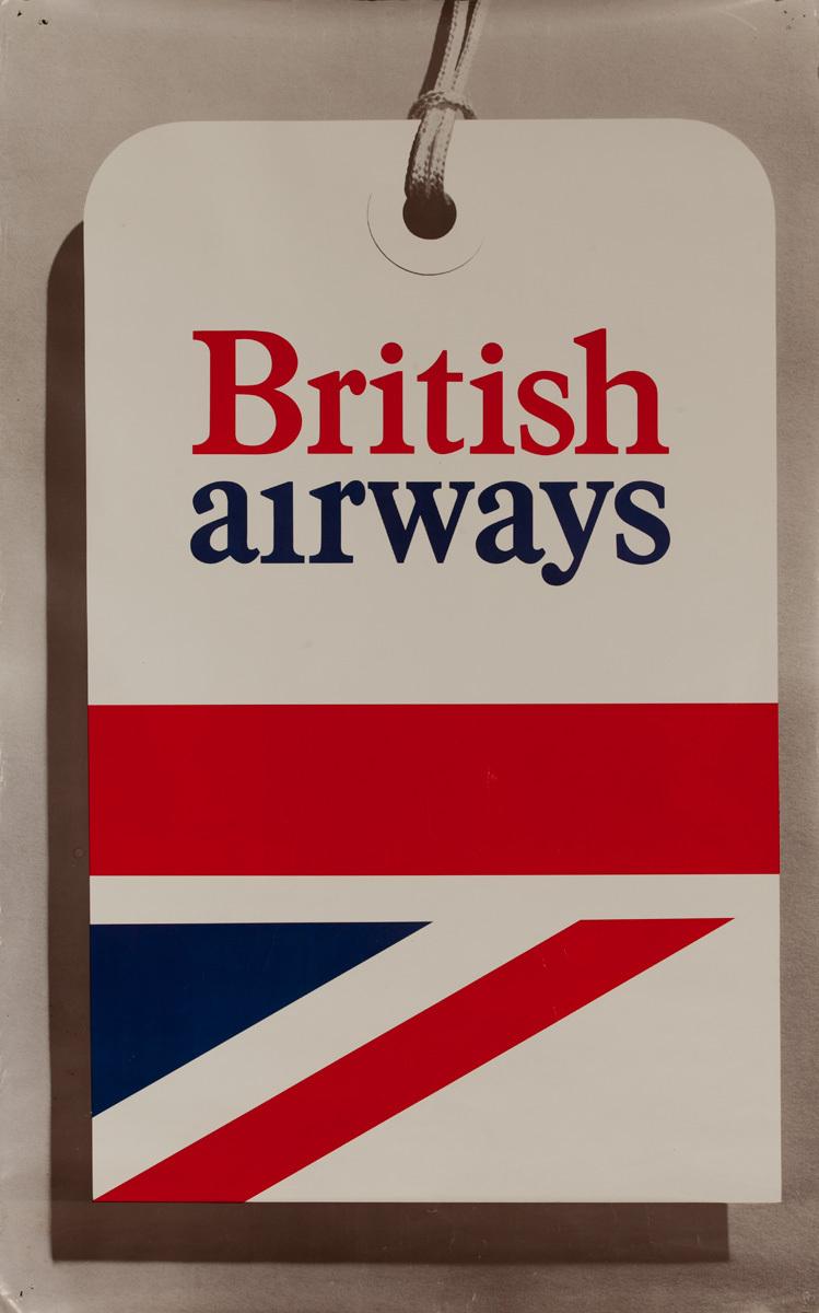 British Airways Original Travel Poster Luggage Tag
